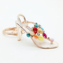 Women High-Heeled Shoes Keychain Key Ring Handbag Pendant Charming Bag Chain rose gold