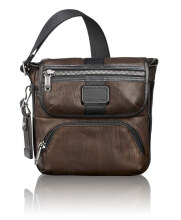 TUMI Alpha Bravo Barton Leather Crossbody - Brown