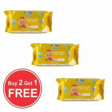 Lemuella Shop - Pure Baby Hand And Mouth Baby Wipes Buy 2 Get 1 Free Chamomile