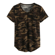 Jantens Casual V-neck Camouflage Military Camo T Shirt Women Short Sleeve T-shirt Ladies Tops Tee