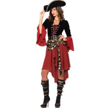 Anamode Female Cruel Seas Captain Buccaneer Pirate Cosplay Costume Fancy Dress -One Size -Multicolor