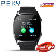 PEKY T8 Bluetooth Smart Watch Support SIM TF Card LBS Locating with camera Sports Wristwatch for Android