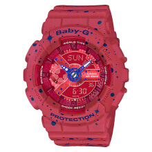 Casio Baby-G BA-110ST-4ADR Red Digital Analog Dial Red Twinkling Stars Resin Strap  [BA-110ST-4ADR]