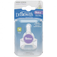 [free ongkir]Dr. Brown's Narrow Silicone Nipple 2 Pack - Level 4 (9m+)