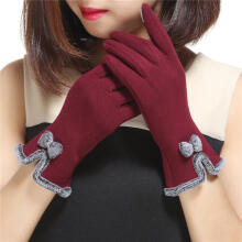 Farfi Fashion Lovely Bowknot Women Touch Screen Winter Warm Outdoor Sport Gloves Gift