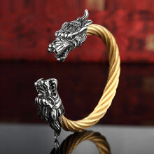 [OUTAD] Domineering Faucet Wire Bracelet Fashion Men's Stainless Steel Jewelry Silver+Golden