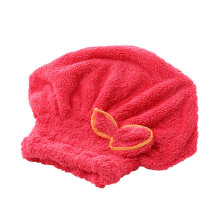 [OUTAD] Lovely Bowknot Solid Hair Turban Quickly Dry Hat Towel Head Wrap Multicolor