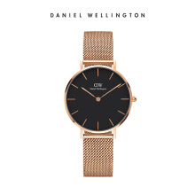 Daniel Wellington Petite Mesh Watch Melrose Black Black 32mm