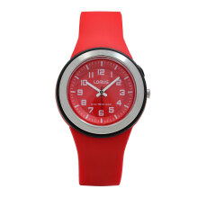 LORUS Jam Tangan Wanita - Red Black - Silicon - R2309MX9