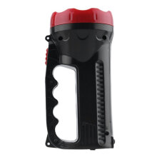 [kingstore]LED Outdoor Bright Charging Portable Flashlight Torch Light Nine Lamp Head Black Black And Red