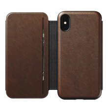Nomad Rugged Tri-Folio Protective Leather Case for iPhone XS / iPhone X