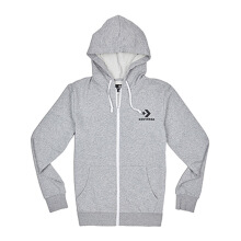 CONVERSE  Star Chevron Fz Hoodie - Vintage Grey Heather