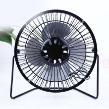 6 inch USB Iron metal fan Black household products daily life supplies Black 6 inch
