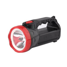 [kingstore]Outdoor LED Bright Charging Strong Light Flashlight Torch Light One Lamp Head Black Black And Red