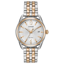 CITIZEN Eco-Drive Watch FE6086-74A Silver Dial with Silver Gold Steel Strap