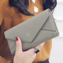 klemoo New Style Envelope Designer Clutch Wallets for Women Hasp Pocket To Coin Card Holder Female Purses Long Wallet Ladies Billetera