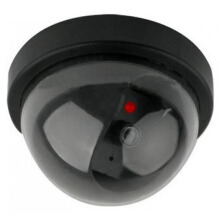 Realistic Looking Fake Dummy Motion Detection System Security Camera Black