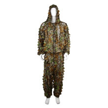 [kingstore]2PCS Hunting Clothes Leaves Camouflage Ghillie Suit Men Women Woodland Suit Camouflage Camouflage