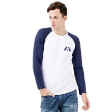 DISNEY Mickey Logo Roundneck Raglan - White/Blue