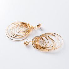 Jantens Korean Statement Earrings Brincos Geometric Drop Earrings For Fashion Women Gold