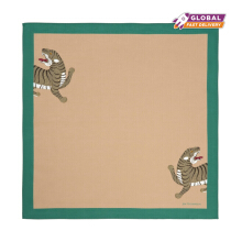 Jim Thompson - Mythical Tiger Cotton Napkin - Beige Teal - 28490009A