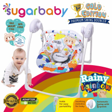 Sugar Baby Rainy Ranbow Gold Edition Premium Swing Bouncer