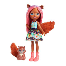 ENCHANTIMALS Sancha Squirrel & Stumper doll FNH23