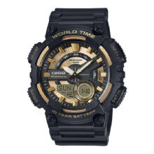 Casio AEQ-110BW-9A Sports double display waterproof electronic watch-Black