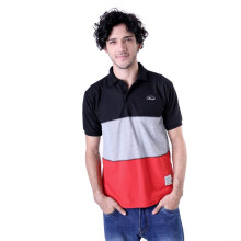 G-SHOP - MEN POLO SHIRT KAOS WANGKI DISTRO PRIA - ADG 0607 - MERAH SIZE- M