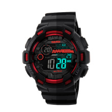 SKMEI Jam Tangan Pria Digital Analog 1243 Red Water Resistant50m