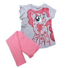 KIDS ICON Kaos Anak Perempuan MY LITTLE PONY Gliter Printing with Frill Detail - MY7K0100180