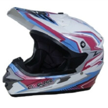 Cargloss MXC Supertrack Helm Motocross - Pink Blue SP White