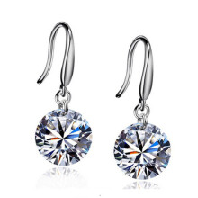 Jantens Hot Fashion jewelry 925 silver Earrings Female Crystal White