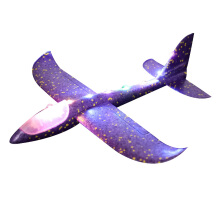 SiYing bubble throw glider aircraft eva luminous children model toy