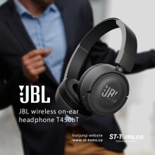 JBL Wireless On-Ear Headphone T450BT - Hitam