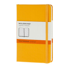 MOLESKINE Notebook Ruled Hard Cover - Orange Yellow - Pocket - MM710M2
