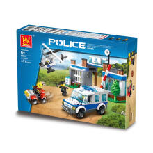 Wange Bricks 52016 Police White Blue