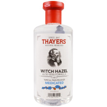 Thayers, Witch Hazel, Aloe Vera Formula, Medicated, Topical Pain Reliever, 12 fl oz (355 ml) small