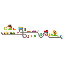 [kingstore] Cute Cartoon Cars Baby Children Bedroom Room Decor Wall Stickers Removable Multicolor