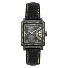 Expedition E 6695 BF LIPBAYL Ladies Black Dial Black Leather Strap [EXF-6695-BFLIPBAYL]