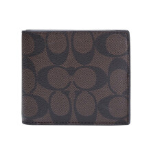 Coach Men's Brown Print Short Wallet F74993MABR