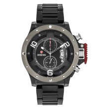 Expedition E 6750 MC BEPBA Chronograph Men Black Dial Black Stainless Steel Strap [EXF-6750-MCBEPBA]