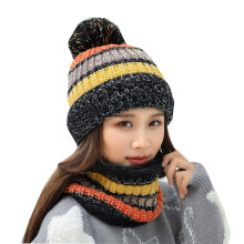 SiYing fashion winter thickening women's neck warm knit hat