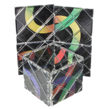 8 Panel 3 Ring Rubik Master Magic Folding Puzzle Cube Twisty Teas Toy Ghost Hand