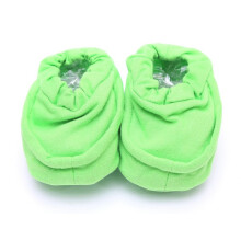 Cribcot Booties Plain - Lime Green Size 0-3M