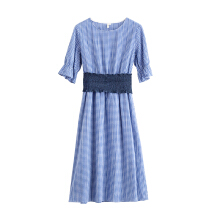 INMAN 1882104532 Dress Blue and White