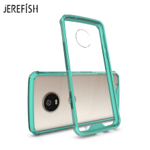 JEREFISH Moto G6 Play Phone Case Shock-Absorption Bumper Style Premium Hybrid Protective Clear Cover
