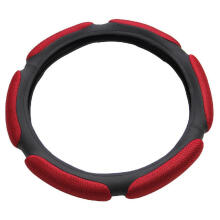 Mary Kay Air Mesh and Foam Padded Universal Steering Wheel Cover Fits 15 inches Steering Wheel Red