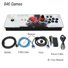[OUTAD] 846 Games Support HDMI VGA Home TV Arcade Game Console Kit With Pause Function Multicolor