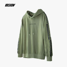 Ins V-435 Trendy brand new Korean version of the autumn and winter hooded jacket female Hip hop jacket-Navy Green S